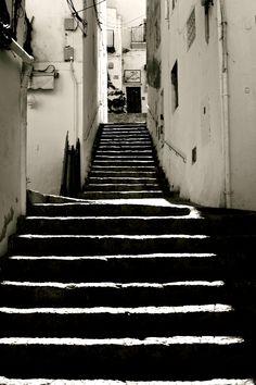 ibiza/stairs/blackwhite/perspective/street