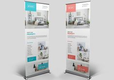 Real Estate Roll-Up Banner by Pixelpick on Rollup Banner, Outdoor Banners, Real Estate, In This Moment, Graphic Design, Templates, Blog, Stencils, Real Estates