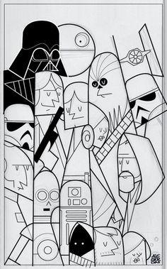 Star Wars by Ale Giorgini, via Behance