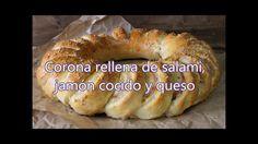 Corona  rellena de salami , queso y jamón cocido