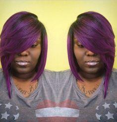 Purple Quickweave Bob