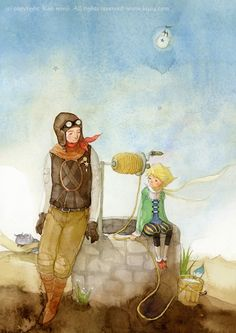The little Prince by Kim Min Ji The Little Prince Movie, The Petit Prince, Bts Dogs, Kim Min Ji, Fairytale Fantasies, Pencil And Paper, Children's Book Illustration, Book Illustrations, Galaxy Wallpaper
