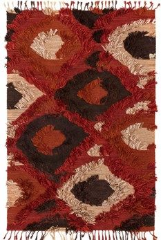 "Justina Blakeney Fable Collection FD-05 SPICE Hand Woven Viscose from Bamboo | Cotton | 3'6""x5'6"" $459 