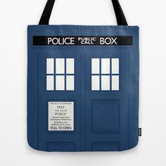 Doctor Who - Minimal Tardis Tote Bag by John Takacs - $22.00 http://society6.com/johntakacsdesign/doctor-who-minimal-tardis_bag#26=197