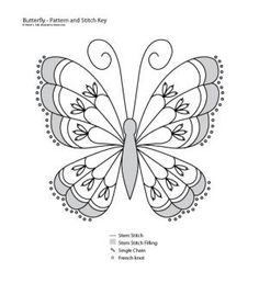 Stem Stitch Butterfly Pattern: Stem Stitch Butterfly Pattern