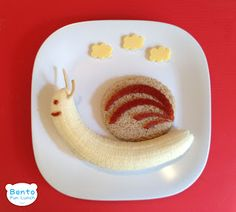 Banana Snail Fruit Snack | Bento Fun Lunch