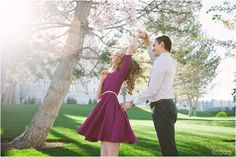 One of the cutest most romantic couple!! I loved their engagement session. Who doesn't love a twirl? lori romney photography   Utah State Capitol Engagements