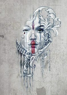 Street Art...Harlequin, by Dan Chase, Musetouch.