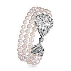 Diamond Pearl Bracelet - Fabergé Impérial Crest Bracelet