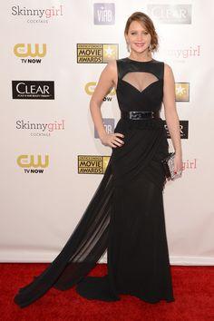 La alfombra roja de los Critics Choice Awards: Jennifer Lawrence de Prabal Gurung.