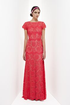 Resort 2013 - Collette DinniganCollette Dinnigan lace long gown, flamingo pink a little Mexican wedding dress