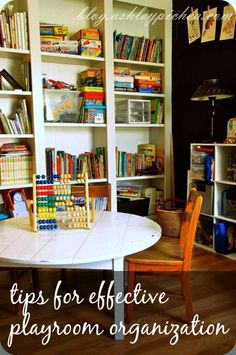 I find that my kids are much more likely to play with their toys when the play area is tidy. CLICK HERE to get some tips for effective playroom organization to finally get (and keep) your kids' toys in order.