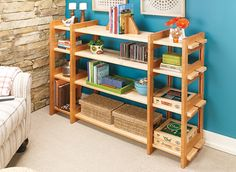 Knock-Down Shelving System   Woodsmith Plans
