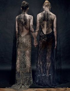 Most Sinister Sisters That lace might look soft, but it will steal your soul.  Photo: Vogue Russia / Amy Troost