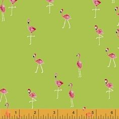 Iza Pearl Design - Flamingos - Mini Flamingos in Lime