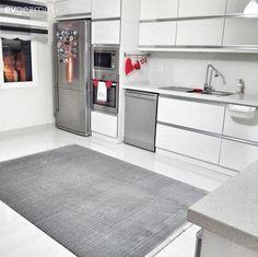Mutfak, Halı, Gri, Beyaz mutfak