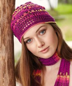 Ladies Hat free crochet pattern