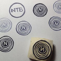 Another monogram handcarved rubber stamp by Natàlia Trias (in 5 minutes)