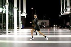 Alina Ceuşan - Noire Leather Dress, Nike Air Max 616730 110, Choies Choose Black And White Blazer, H&M Silver Aviators - Night air: 616730-110