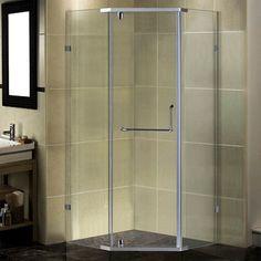 "Aston 37"" x 37"" x 75"" Semi-Frameless Neo-Angle Shower Enclosure Steam Shower Enclosure, Bathtub Enclosures, Corner Shower Enclosures, Frameless Shower Enclosures, Sliding Door Handles, Sliding Glass Door, Sliding Doors, Barn Doors, Glass Doors"