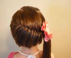 Peinado de trenza para niñas
