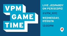 """Ever wish you could be a fly on the wall in VPM's offices? Get a serious behind-the-scenes look at how insanely competitive it is live on Periscope this Wednesday, July 20th, at 12:00 p.m. EST.  This will wrap up VPM's summer vlog  series, """"VPM Game Time,"""" where we introduced you to the real champions of this summer. If you missed any episodes, you can watch them all on VPM's Vimeo or Youtube accounts."""