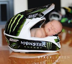 Great newborn shot for the next baby if Pat's still racing.