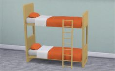 Veranka: Dorm and Contrast Bunk Bed Frames • Sims 4 Downloads
