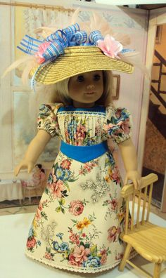 "Historical  Edwardian ""Grown up Lady""  ""Sweetness""  for Samantha, Nellie or any American girl doll or 18 inch doll"