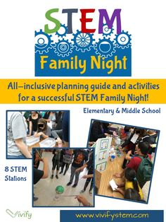 This allinclusive planning guide has everything you need to host a successful STEM Family Night The guide was created after experience hosting several successful Family N. Stem Science, Teaching Science, Science Fair, Earth Science, Science Experiments, Science Inquiry, Science Room, Science Ideas, Physical Science