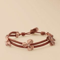 Rose Flower Wrist Wrap - Fossil by yolanda