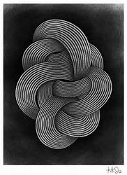 Modern Abstract Geometric Art Print - Living In A Rams Head Illusion Kunst, Illusion Art, Art And Illustration, Abstract Geometric Art, Black White Art, The Draw, Op Art, Pattern Art, Art Photography