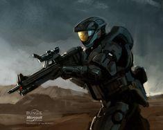ArtStation - Halo: REACH Spartan studies, Isaac Hannaford