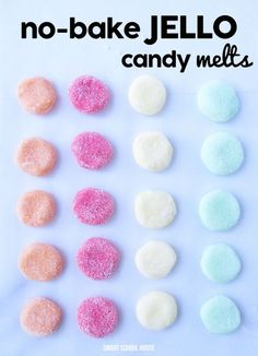 No-bake Jello Candy Melts - easy treat recipe