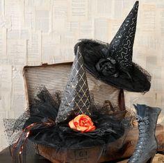 set of 2 raz imports 16 witch hat halloween decor