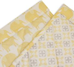 WeBe - Baby's Quilted Mat - Yellow Elephant Print