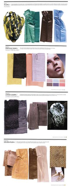 NellyRodi Fabrics Love this for more of a winter feel - not too cold feeling, but still reminiscent of the seasons Trends 2015 2016, Ss15 Trends, 2015 Fashion Trends, Peclers Paris, Spring Summer Trends, Summer 2015, Fashion Colours, Ss 15, Fashion Sketches