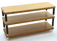 ATACAMA Evoque Eco Design Edition 3L Double width rack Bamboo shelves 1120Wx400D | Audio Reference Co.