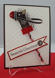 Another idea for the stocking punch from Stampin' Up.