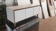 Holzdose quadratisch minimalistische wohnzimmer von farbdoktor