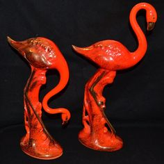 Set of Vintage Flamingo statues by TwoChicksFinds on Etsy, $40.00