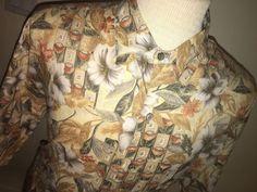 Tori Richard men's Cotton Lawn Hawaiian Shirt Mens XL Floral Brown/Beige Aloha #ToriRichard #Hawaiian