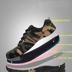 Indestructible Safety Shoes For Men/Women Camo Range Safety Shoes For Men, Steel Toe Safety Shoes, Mens Shoes Boots, Men's Shoes, Shoe Boots, Times New Roman, Formal Shoes, Casual Shoes, Buy Shoes Online