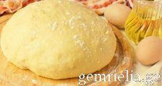 Тесто тертый сыр - подходящий мясо и заполнение ветчиной