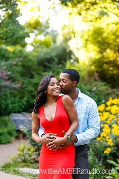 african american outdoor engagement photos - Google Search