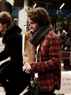 scarf and plaid.