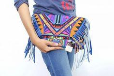 Ethnic fringe bag
