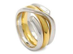 GEORG JENSEN, ring, Magic, #1314, 18K gold/wuktiohite gold, design Regitze Overgaard. Item no: 1084516 - Kaplans Auktioner