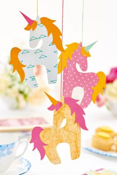 Pick of the Best 9 Brother ScanNCut Projects Hobbies And Crafts, Diy Crafts For Kids, Arts And Crafts, Paper Crafts, Unicorn Birthday Parties, Unicorn Party, Papercut Art, Unicorn Crafts, Scan N Cut
