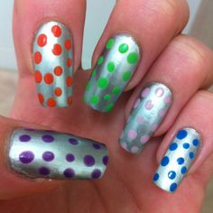 Colorfull balls in my nails